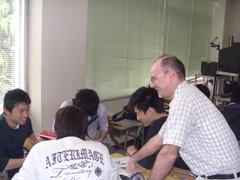 英語教員による授業