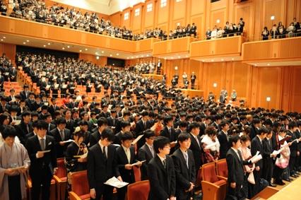 平成23年度卒業式・修了式2